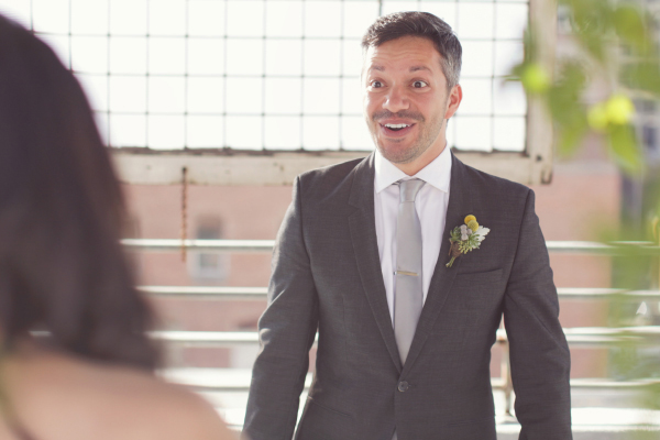 Moe can't control his massive smile when he sees Jen.  Photo Credit: Brandon Kidd Photography