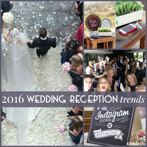 2016 Wedding Reception Trends