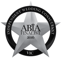 ABIA 2016 VIC Independent Wedding Consultant finalist